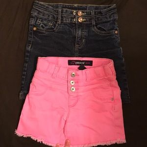 Jordache girls jean short bundle